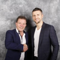 lester with carl froch