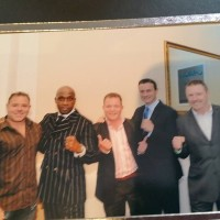 with nigel benn, richie and steve collins